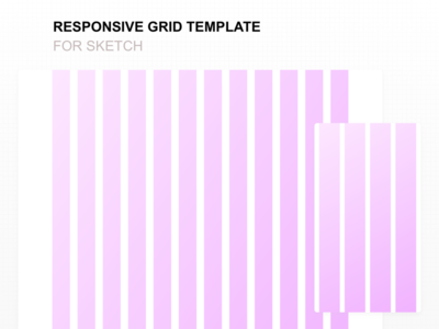 responsive grid template for sketch by bunin dmitry dribbble