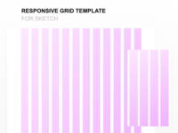 Responsive Grid Template for Sketch