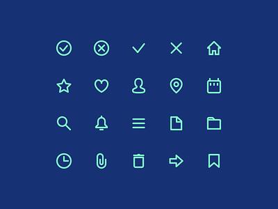 🌟 Super Basic Icons design system ux ui interface basic icons