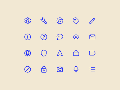 Super Basic Icons 02 stroke outline glyph iconography daily design system ux ui interface basic icons