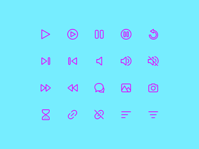Super Basic Icons 03 icons basic interface ui ux design system daily iconography glyph outline stroke