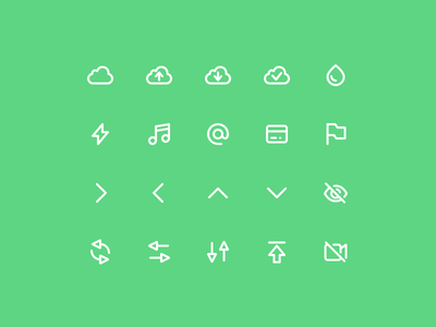 Super Basic Icons 04 stroke outline glyph iconography daily design system ux ui interface basic icons
