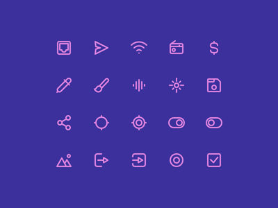 Super Basic Icons 05 icon stroke outline glyph iconography daily design system ux ui interface basic icons