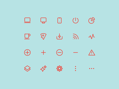 Super Basic Icons 06 icons basic interface ui ux design system daily iconography glyph outline stroke icon