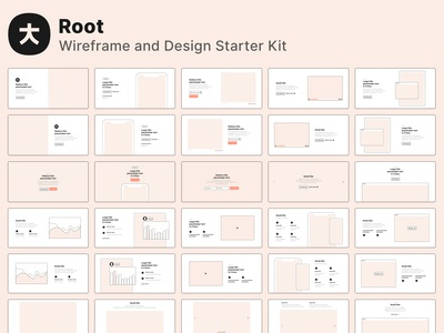 Root - Wireframe and design starter kit 🔥
