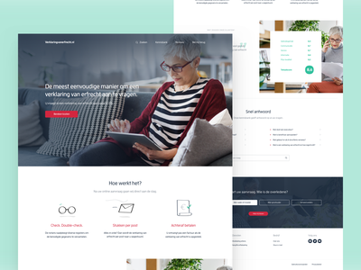 Succession Certificate Homepage web design ux ui web design
