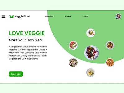 Web Design veggielovers webdesign app ux design illustration graphic design ui
