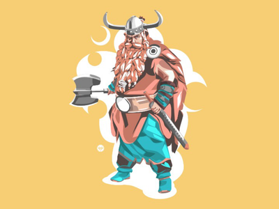 Viking tracing simple illustration flat face design cartoon art