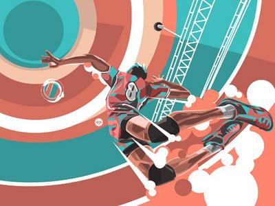 Volley Ball adobe vector tracing art design sport ball illustration