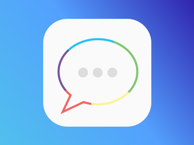 GiphyChat iOS - Light app icon chat ios app