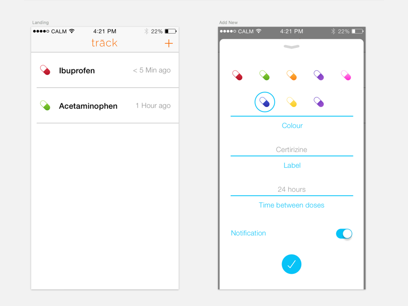 trāck medication tracking by adam pypstra dribbble dribbble