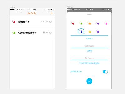 trāck - Medication tracking app iphone ios trāck pills health