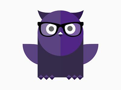 OWL Rebrand vector glasses learning lms owl