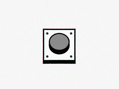 Buzzer! cartoon network smash button motion after effect 2d cmyk stars confetti grain noise color animation video loop illustration flat buzz design icon