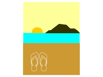 beach dream flipflop