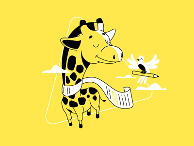 Short Form vs Long Form lines vector perspective ui illustration content copywriting article illustration article bird giraffe character illustrator illustration