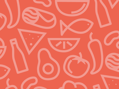 mexican food pattern beans avocado guacamole beer nacho pepper tomato fish pattern food mexican