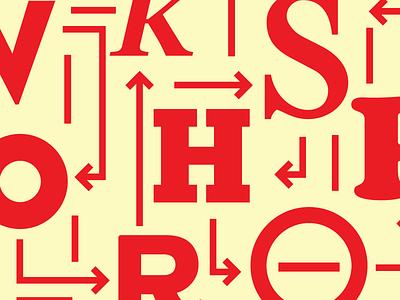 workshops curvy curves maps arrows letters typography workshops
