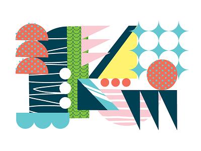 Landscape abstract color world cup dabooty shapescape shapes landscape