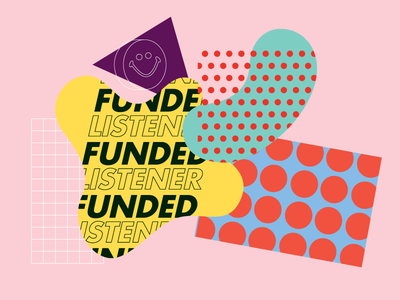 Listener Funded color mug collage pink graphic design typogrpahy abstract dots national public radio npr radio
