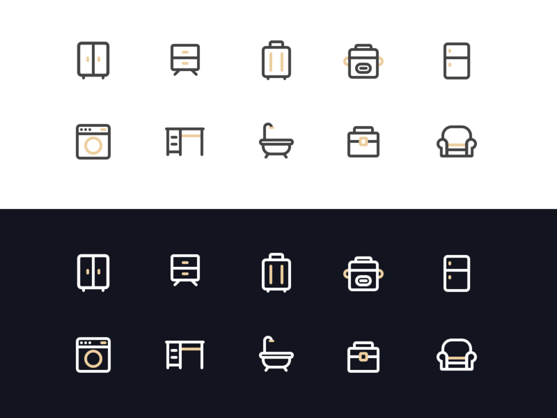 Furniture Icon illustration furniture life uidesign icon