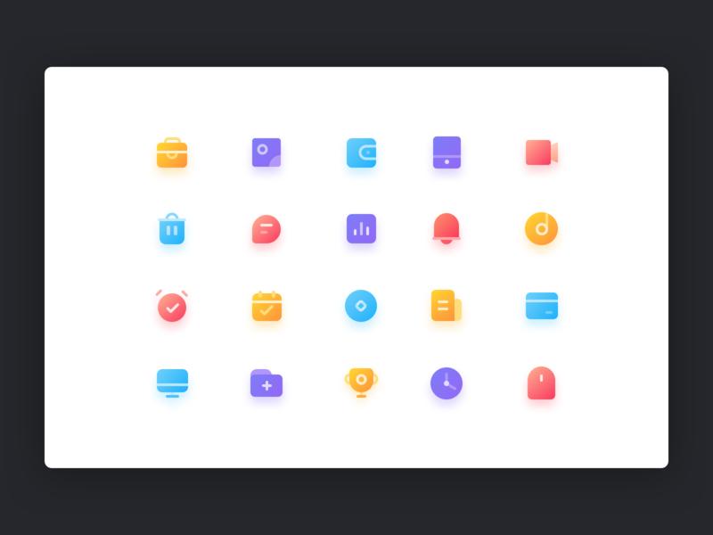 Color Icon vector branding illustration ui icon color