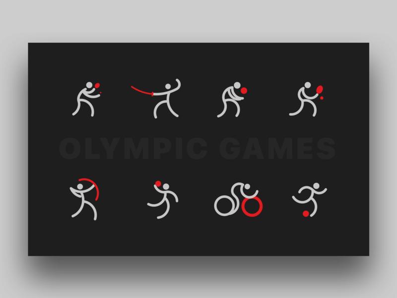 Olympic Games logo branding vector ui illustration icon