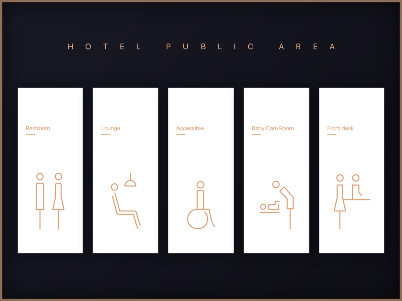 Hotel Public Area hotel logo building design branding vector ui illustration icon