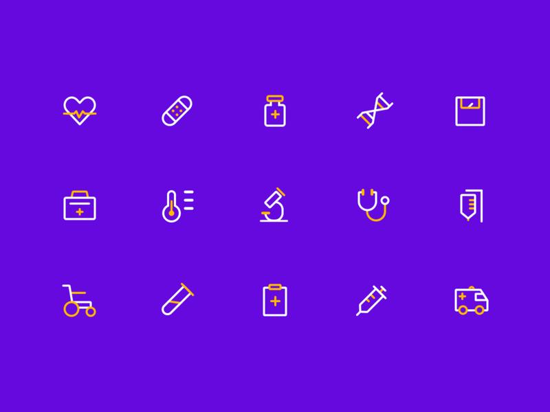 Medical Icon illustration app color logo design vector ui icon