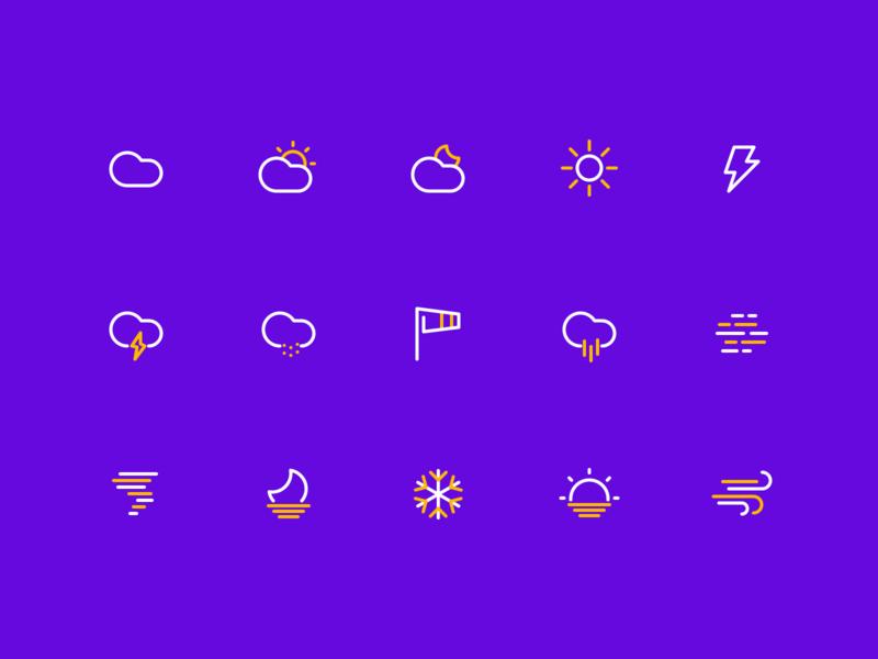 Weather Icon color building logo design branding ui vector illustration icon