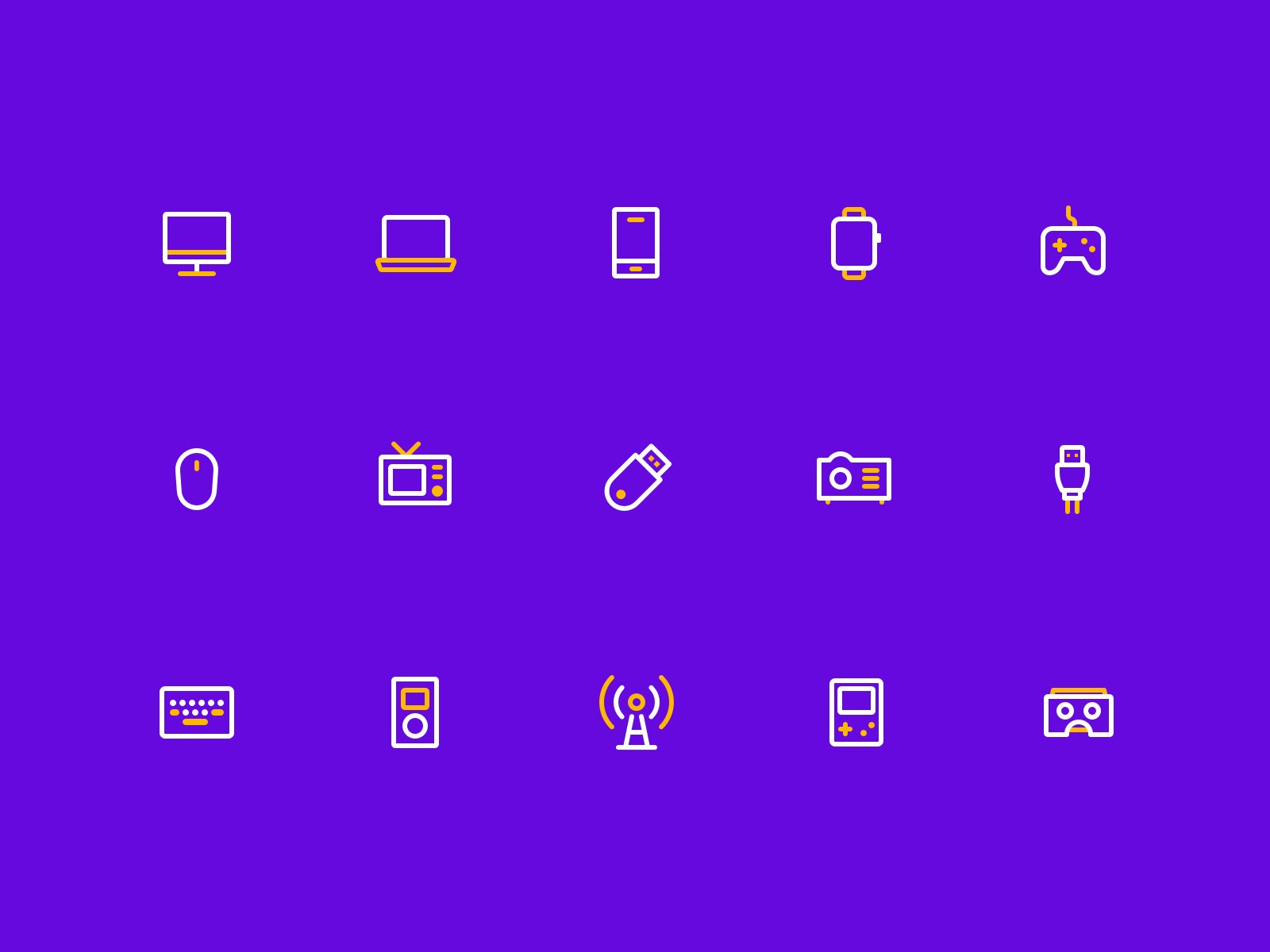 Electronic equipment icon