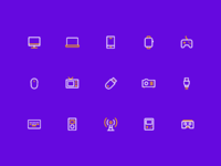 Electronic equipment icon