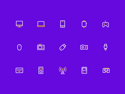 Electronic Equipment Icon building logo design branding vector ui illustration icon