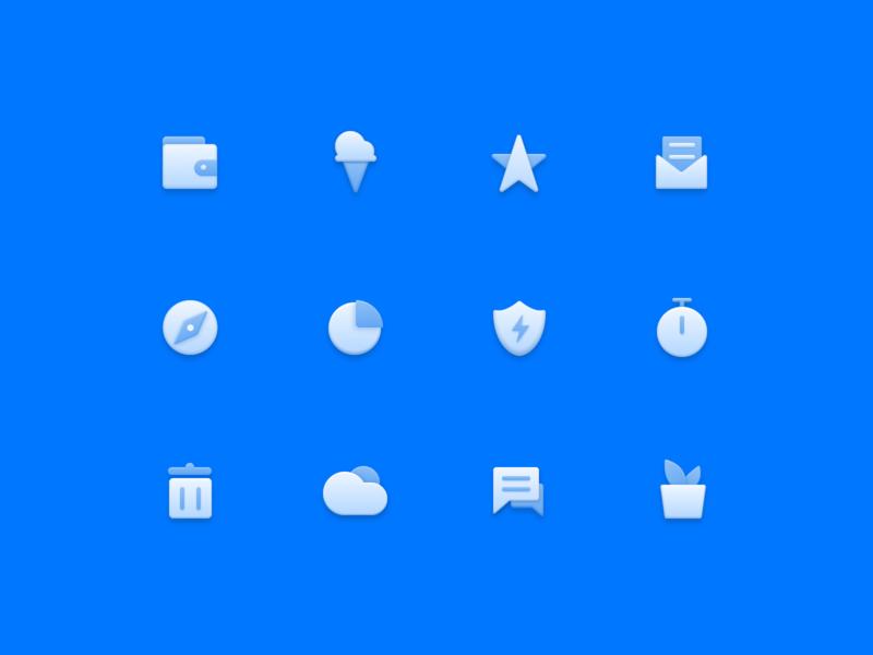 blue Icon color design ui vector illustration icon
