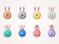 Medallions set illustrator profil page texture rank iphone ios thadde medallions speechify julien identity icon vector minimal flat art sketch design illustration