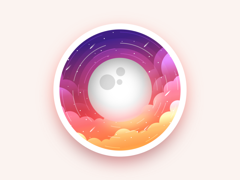 Moon julien planet ux branding apple app 3d project badge website web vector ui sketch art minimal flat illustration icon design