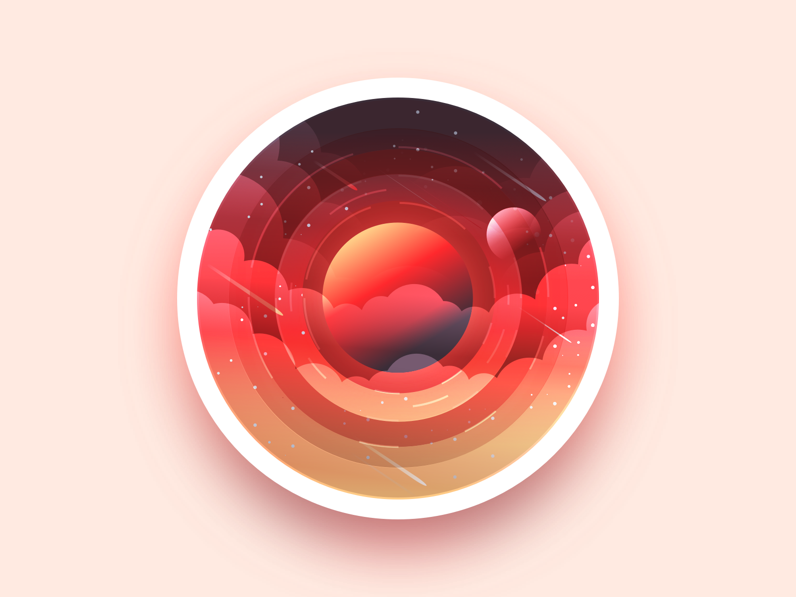 Planet planet 3d app type ui space project badge illustrator web identity vector icon sketch minimal flat art design illustration adobe