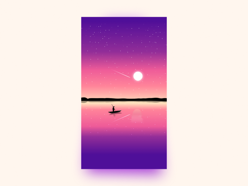 Sunset illustration julien image wallpaper branding landscape sunset website ui project illustrator web identity vector icon sketch minimal art flat illustration design