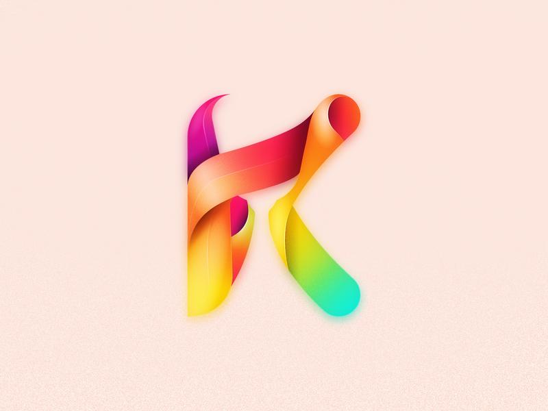K logo website ux k logo app ui branding julien project web illustrator identity icon vector minimal art sketch flat design illustration