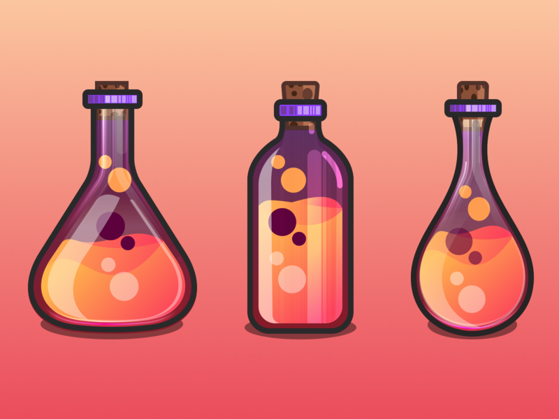 Bottles website bottle design gradients bottle ux ui julien project web illustrator identity icon vector minimal art sketch flat design illustration