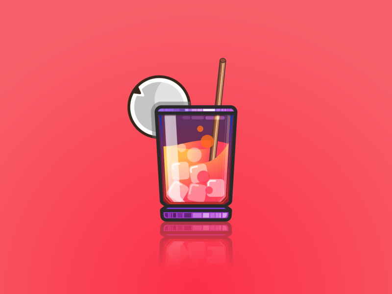 Cocktail product gradients illustrator ios coco cocktail drink project julien identity icon vector minimal art sketch flat design illustration