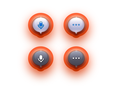 Bubble icon gradiant radio podcast ios realistic message micro dots skeuomorphic web julien illustrator identity icon vector minimal art sketch design illustration