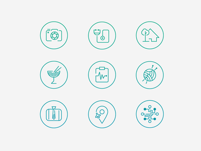 Curiosity Shoppe Icons icons onboarding photography medical home garden food drink crafts business travel technology