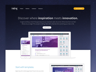 Inkling Inspiration inkling layout illustration website