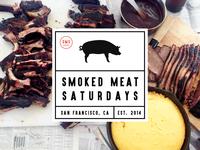 Smoked Meat Saturdays Stickers