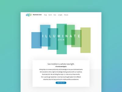 Illuminate 2016 inkling web layout shadow gradient roadshow website web design