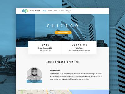Illuminate 2016 - City web design chicago drake website web shadow roadshow layout inkling