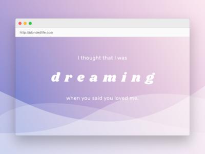 💇🏼 Blonded Life Website gradient music lyrics blonde frank ocean typography website