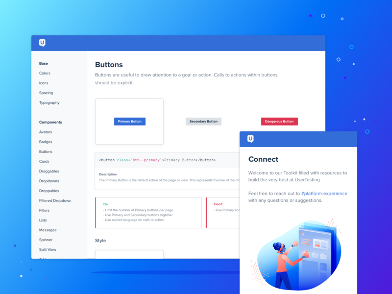 ✨Connect components buttons ux ui design systems design system