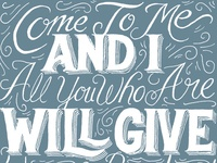 And I Will Give